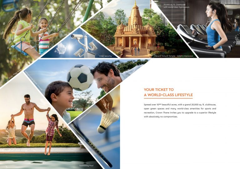 Lodha group 1Bhk Thane starting @49.9lakhs* majiwada offers you crown world-class amenities