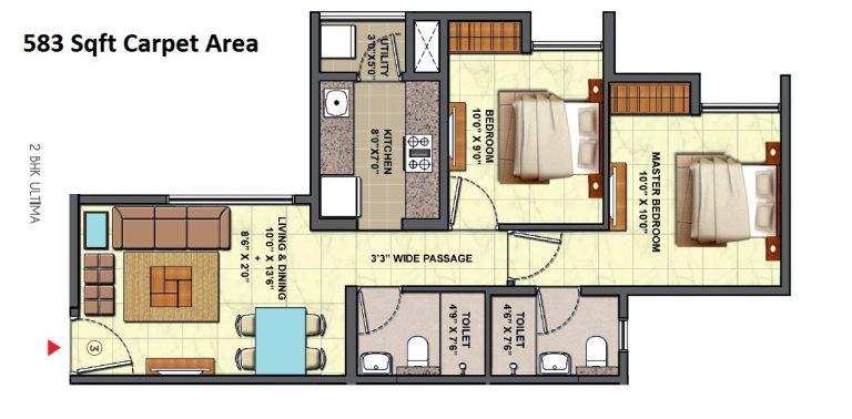 casa marvella 1,2 & 3 bhk homes at 42.5 Lacs