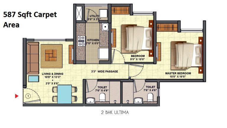 casa marvella 1,2 & 3 bhk flats at 42.5 Lacs