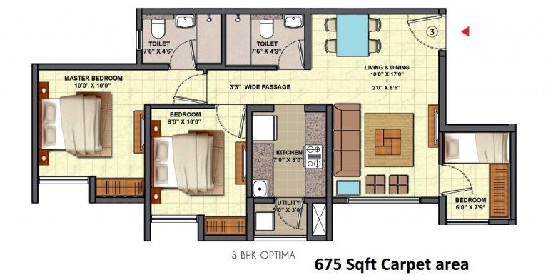 casa marvella 1/2/3 bhk apartment at 42.5 Lacs