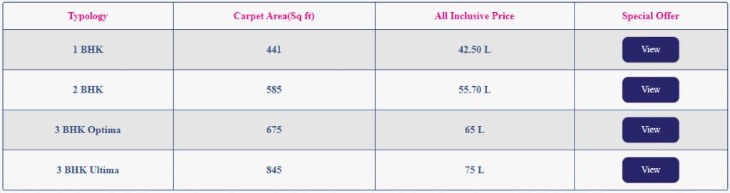 1/2/3 BHK homes starts @ 42.5 Lacs