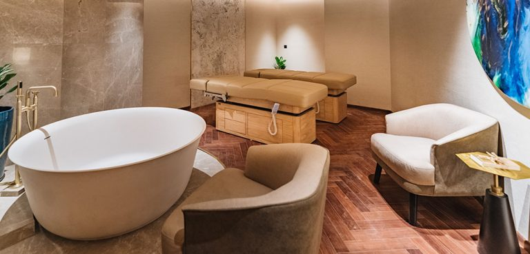 A Tranquil Spa Treatment Room